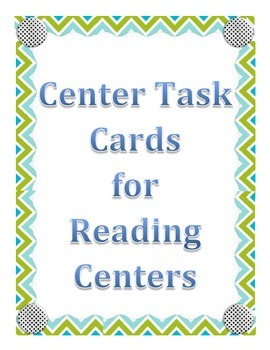 Word Work Center Cards