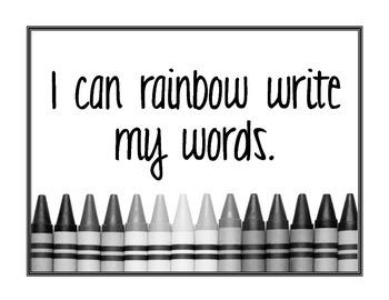 Word Work Center Cards
