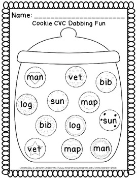 Word Work Center ~Dab The Delights!~ Interactive Center Using Dot Painters+!