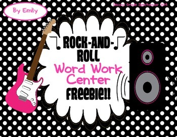 Rock-and-Roll Word Work Center Freebie