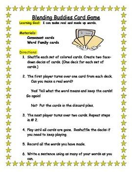 Word Work Center Games