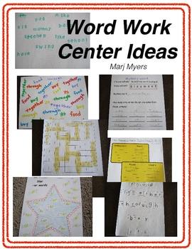 Word Work Center Ideas