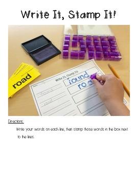 Word Work Center- Make it Stamp it Write it