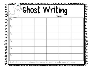Word Work Center Practice Pages