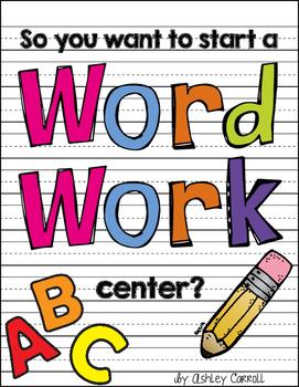 Word Work Center Starter Kit