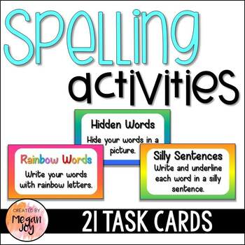 Word Work Center Task Cards
