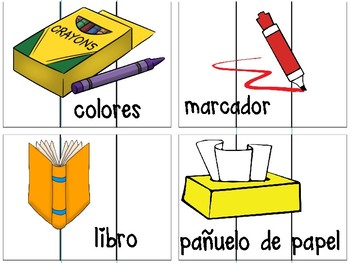 Word Work Center for Back to School Spanish