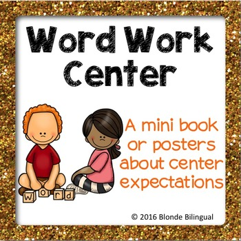Word Work Center mini book