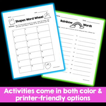 Word Work Centers: Seven Activities for Daily 5, Spelling Words, or Vocab Words
