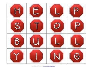 Word Work Centers: Anti-Bullying