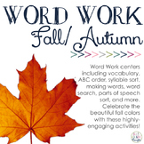 Word Work Centers: Fall/Autumn