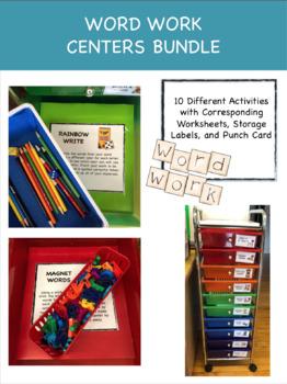 Word Work Centers Bundle