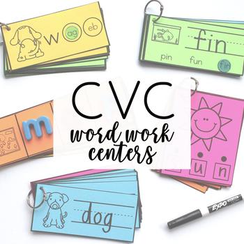 Word Work Centers - CVC