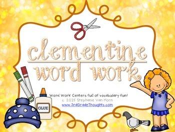 Word Work Centers: Clementine