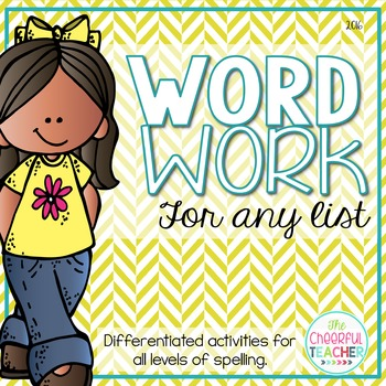 Word Work Centers - Differentiate for any list of words