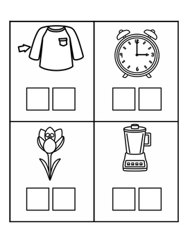 Word Work Centers - Digraphs & Blends