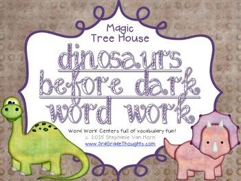 Word Work Centers: Dinosaurs Before Dark {Magic Tree House}