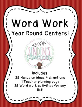 Word Work Centers For Any List