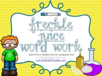 Word Work Centers: Freckle Juice