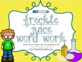 Word Work Centers: Freckle Juice