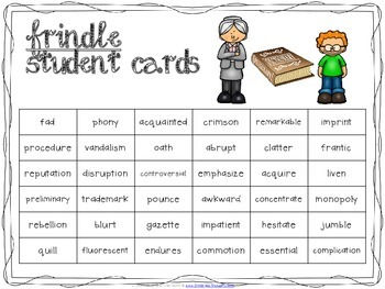 Word Work Centers: Frindle