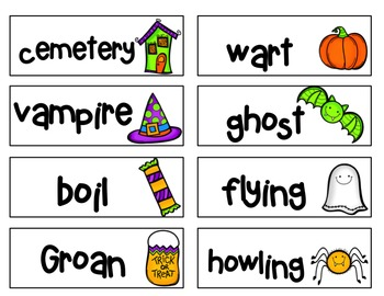Word Work Centers [Halloween]