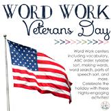 Word Work Centers: Veterans Day