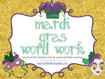 Word Work Centers: Mardi Gras
