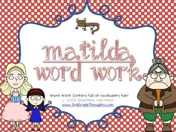 Word Work Centers: Matilda