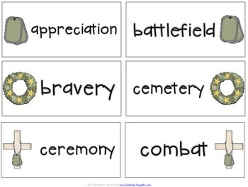 Word Work Centers: Memorial Day