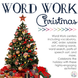 Word Work Centers: Christmas