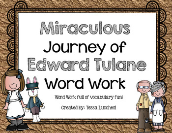 Word Work Centers: Miraculous Journey of Edward Tulane
