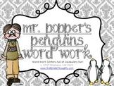 Word Work Centers: Mr. Popper's Penguins