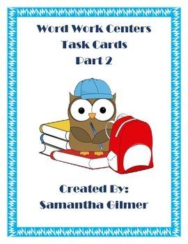 Word Work Centers Part 2