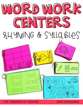 Word Work Centers - Rhyming & Syllables