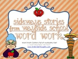 Word Work Centers: Sideways Stories from Wayside School