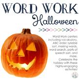 Word Work Centers: Halloween