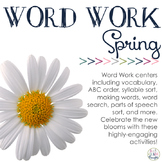 Word Work Centers: Spring