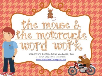 Word Work Centers: The Mouse and the Motorcycle