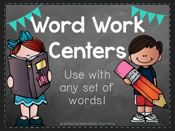 Word Work Centers - Use with any set of words!