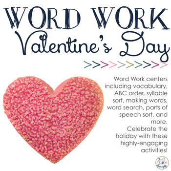 word work centers: valentine's day3rd grade thoughts | tpt, Ideas