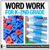 Word Work Centers & Visual Directions