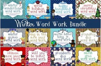 Word Work Centers: WINTER BUNDLE