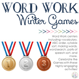 Word Work Centers: Winter Games
