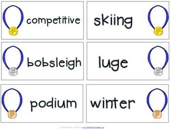 Word Work Centers: Winter Games