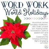 Word Work Centers: Winter World Holidays