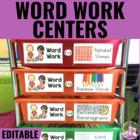 Word Work Centers - EDITABLE