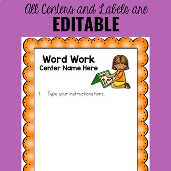 Word Work Centers - Spelling Activities For Any Word List - Editable