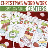 Christmas Word Work Centers: syllables, word families, sight words