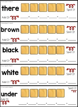 Word Work Centers with Scrabble Tiles - Dolch Primer Words